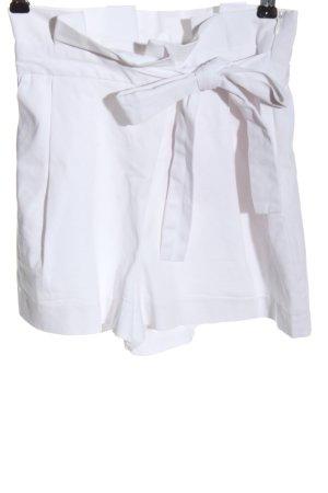 Zara Trafaluc Short taille haute blanc style décontracté
