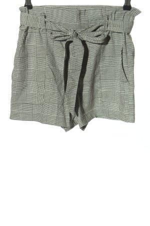 Zara Trafaluc High-Waist-Shorts hellgrau Karomuster Casual-Look