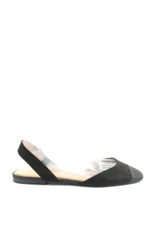 Zara Trafaluc Sandały plażowe czarny W stylu casual