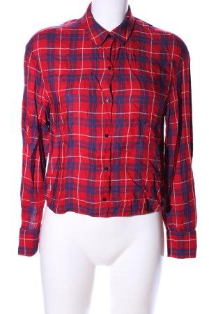 Zara Trafaluc Camicia da boscaiolo rosso-blu stampa integrale stile casual