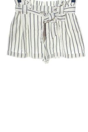 Zara Trafaluc Hot Pants weiß-schwarz Streifenmuster Casual-Look