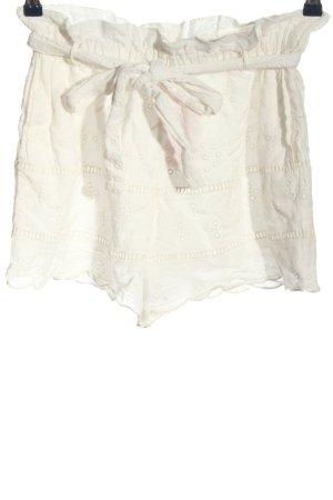Zara Trafaluc Hot pants bianco elegante