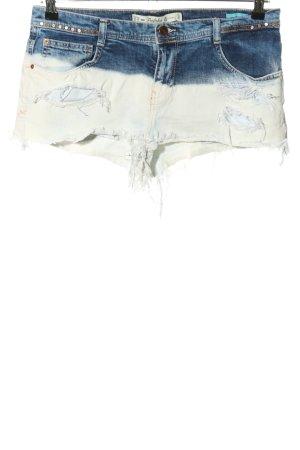 Zara Trafaluc Hot Pants blau-weiß Casual-Look