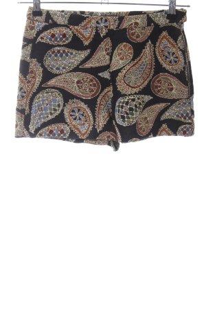 Zara Trafaluc Hot Pants schwarz-braun abstraktes Muster Casual-Look