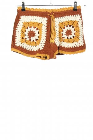 Zara Trafaluc Hot Pants grafisches Muster Casual-Look