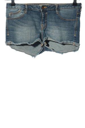 Zara Trafaluc Hot Pants blau Casual-Look