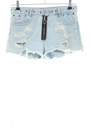Zara Trafaluc Hot Pants blau Casual-Look