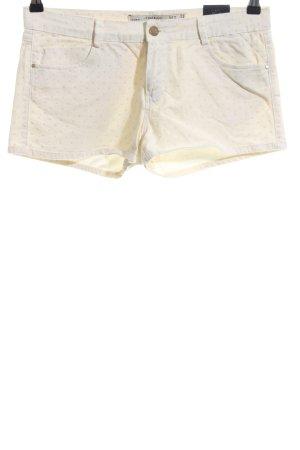Zara Trafaluc Hot Pants creme Punktemuster Casual-Look