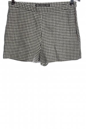 Zara Trafaluc Hot Pants schwarz-weiß Allover-Druck Casual-Look