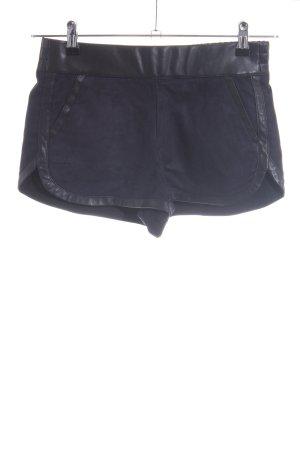 Zara Trafaluc Hot Pants blau-schwarz Casual-Look