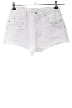 Zara Trafaluc Krótkie szorty biały W stylu casual