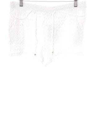 Zara Trafaluc Hot Pants wollweiß Romantik-Look