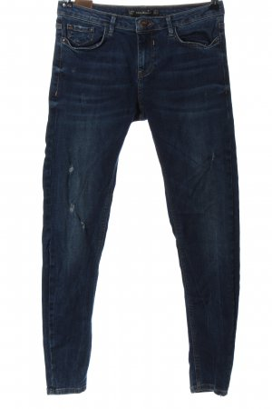 Zara Trafaluc Jeans vita bassa blu stile casual