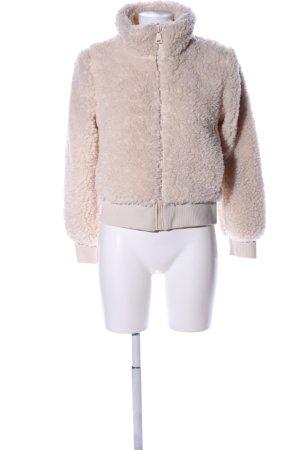 Zara Trafaluc Kurtka ze sztucznym futrem w kolorze białej wełny W stylu casual