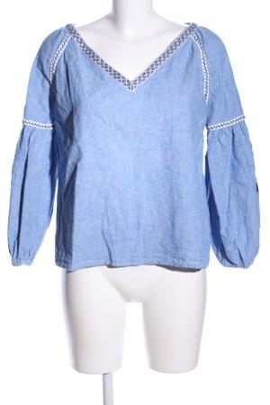 Zara Trafaluc Jeansbluse blau meliert Casual-Look