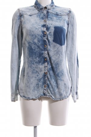 Zara Trafaluc Denim Blouse blue color gradient casual look