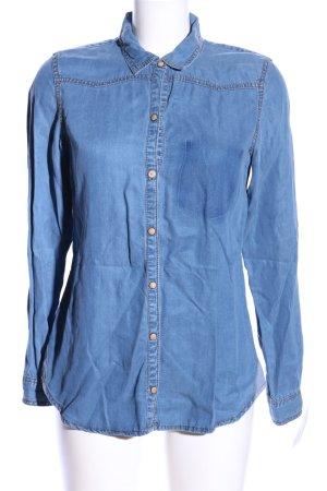 Zara Trafaluc Jeansbluse blau Casual-Look