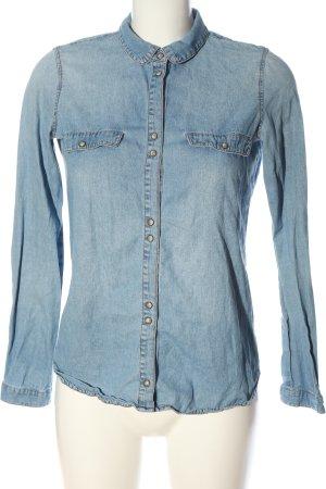 Zara Trafaluc Jeansowa koszula niebieski W stylu casual