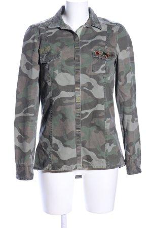 Zara Trafaluc Jeanshemd Camouflagemuster Casual-Look