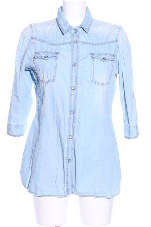 Zara Trafaluc Denim Shirt blue casual look