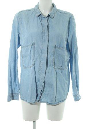 Zara Trafaluc Jeanshemd himmelblau Jeans-Optik