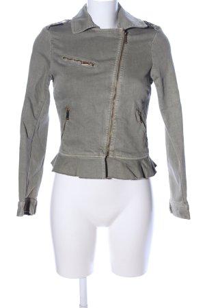 Zara Trafaluc Jeansjacke khaki Casual-Look