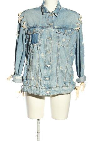 Zara Trafaluc Jeansjacke blau Street-Fashion-Look