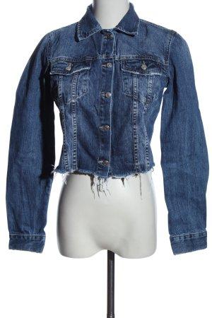 Zara Trafaluc Jeansjacke blau Casual-Look