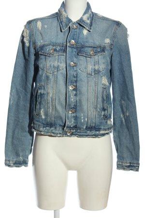 Zara Trafaluc Veste en jean bleu style mode des rues