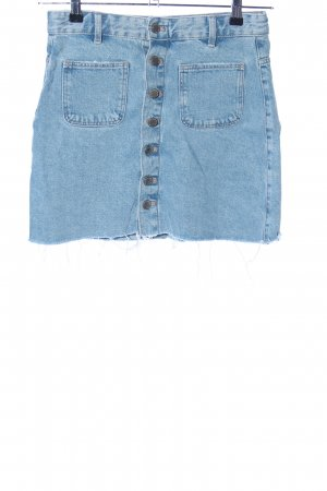 Zara Trafaluc Denim Skirt blue casual look