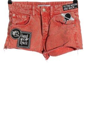 Zara Trafaluc Short en jean rouge style décontracté