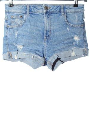 Zara Trafaluc Jeansshorts blau Casual-Look