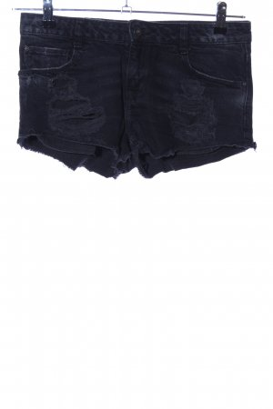 Zara Trafaluc Jeansshorts schwarz Casual-Look