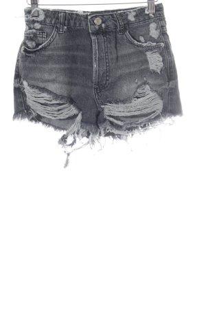 Zara Trafaluc Jeansshorts dunkelgrau Casual-Look