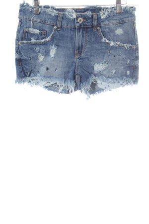 Zara Trafaluc Jeansshorts kornblumenblau Casual-Look