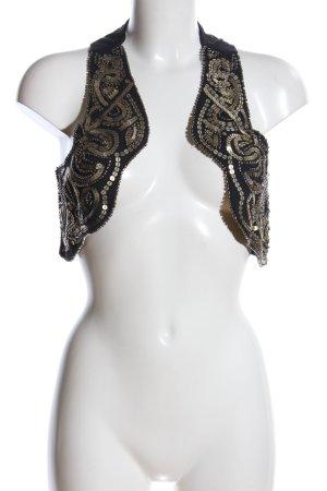 Zara Trafaluc Chaleco de tela vaquera negro-color oro look efecto mojado