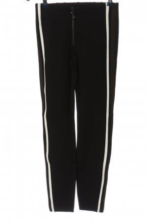 Zara Trafaluc Jeggings negro-blanco look casual