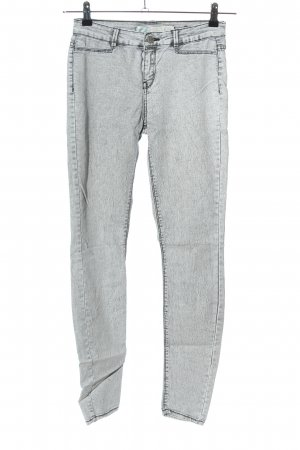 Zara Trafaluc Jeggings grigio chiaro puntinato stile casual