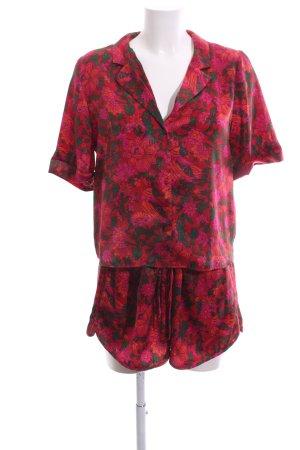 Zara Trafaluc Jersey Twin Set Blumenmuster Elegant