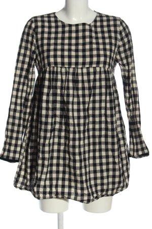 Zara Trafaluc Combinaison blanc cassé-noir motif à carreaux
