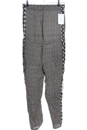 Zara Trafaluc Jumpsuit schwarz-hellgrau Allover-Druck Casual-Look