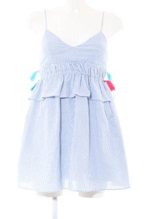Zara Trafaluc Jumpsuit blau-weiß Streifenmuster Casual-Look