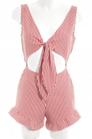 Zara Trafaluc Jumpsuit rot-weiß Streifenmuster Casual-Look