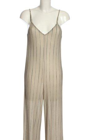 Zara Trafaluc Jumpsuit wollweiß Streifenmuster Casual-Look