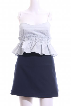 Zara Trafaluc Jumpsuit himmelblau-dunkelblau Casual-Look