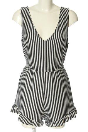 Zara Trafaluc Combinaison noir-blanc motif rayé style décontracté
