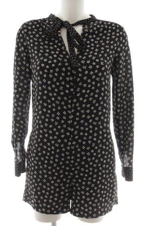 Zara Trafaluc Jumpsuit schwarz-wollweiß Blumenmuster