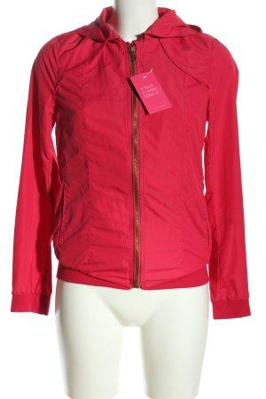 Zara Trafaluc Kurtka z kapturem czerwony W stylu casual
