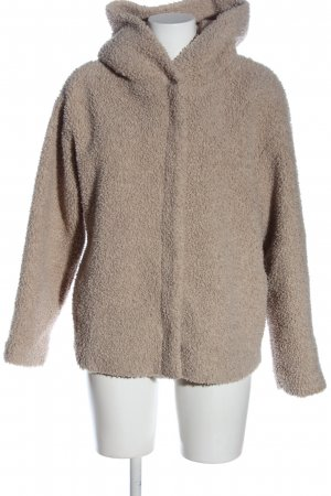 Zara Trafaluc Hooded Coat cream casual look