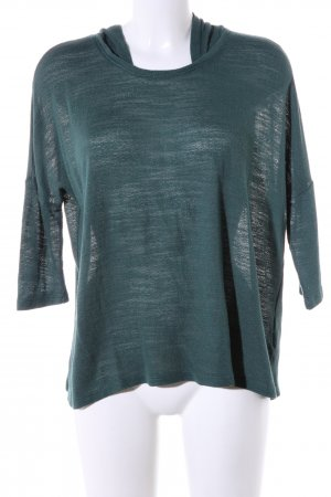 Zara Trafaluc Hooded Sweater green flecked casual look